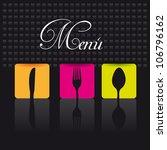 cutlery over black background.... | Shutterstock .eps vector #106796162