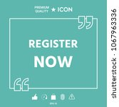 register now button | Shutterstock .eps vector #1067963336