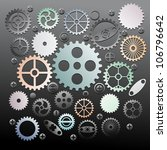 set of gear wheels vector | Shutterstock .eps vector #106796642