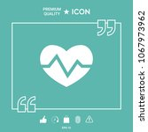 heart medical icon | Shutterstock .eps vector #1067973962