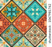 seamless colorful patchwork...   Shutterstock .eps vector #1067981762