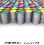 3d color paint cans | Shutterstock . vector #106798445