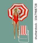 full length female mannequin... | Shutterstock . vector #1067988728
