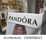 Small photo of Mannheim, Germany - August 24, 2017: Pandora shop. Pandora is a Danish jewelry manufacturer and retailer founded in 1982 known for its customizable charm bracelets, designer rings, necklaces and watch