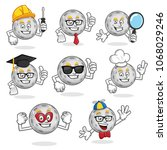 moon character pack  vector set ...   Shutterstock .eps vector #1068029246