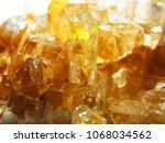 citrine yellow gem geode... | Shutterstock . vector #1068034562