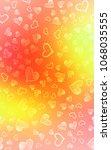light red  yellow vertical... | Shutterstock . vector #1068035555