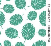 seamless pattern with tropical... | Shutterstock .eps vector #1068039488