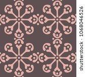 seamless arabic ornament. hand... | Shutterstock .eps vector #1068046526