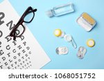 flat lay composition with... | Shutterstock . vector #1068051752