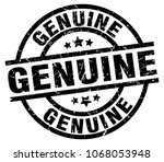 genuine round grunge black stamp | Shutterstock .eps vector #1068053948