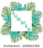 vector illustration of summer... | Shutterstock .eps vector #1068061382