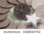 a quarter of delaware  quarters ...   Shutterstock . vector #1068064742