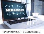 membership text on modern...   Shutterstock . vector #1068068018