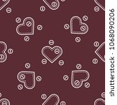 cute seamless pattern with...   Shutterstock .eps vector #1068090206