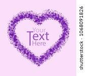 background of heart card for...   Shutterstock .eps vector #1068091826