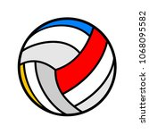 volleyball symbol design | Shutterstock .eps vector #1068095582