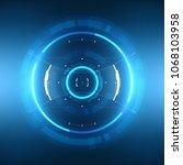 futuristic sci fi hud circle...