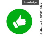 like hand icon | Shutterstock .eps vector #1068114875