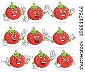 tomato character vector pack ... | Shutterstock .eps vector #1068117566