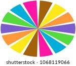color wheel   segments of... | Shutterstock . vector #1068119066