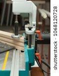 wood working machine  making a... | Shutterstock . vector #1068120728