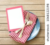 summer picnic outdoor table... | Shutterstock . vector #1068122198