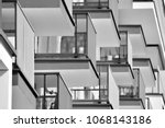 detail of a new modern... | Shutterstock . vector #1068143186