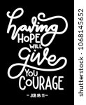 having hope will give you... | Shutterstock .eps vector #1068145652