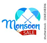 abstract monsoon sale | Shutterstock .eps vector #1068148346