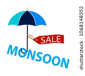 abstract monsoon sale | Shutterstock .eps vector #1068148352