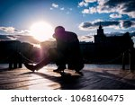 young street dancer moving in... | Shutterstock . vector #1068160475