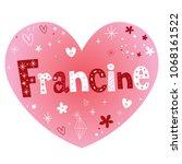 francine   very nice feminine...   Shutterstock .eps vector #1068161522