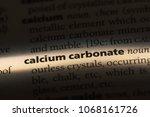 calcium carbonate word in a... | Shutterstock . vector #1068161726