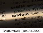 calcium word in a dictionary.... | Shutterstock . vector #1068162056