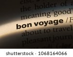 bon voyage word in a dictionary.... | Shutterstock . vector #1068164066