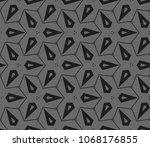 decorative seamless geometric... | Shutterstock .eps vector #1068176855