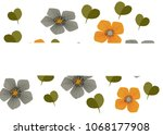 pattern of gray and orange...   Shutterstock . vector #1068177908