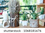vintage decorate house  and shop | Shutterstock . vector #1068181676