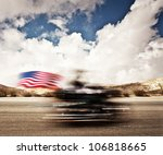 Slow Motion On Motorbike  Blur...