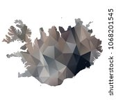 iceland map   black  grey ... | Shutterstock .eps vector #1068201545