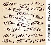 calligraphic elegant elements... | Shutterstock .eps vector #1068201836