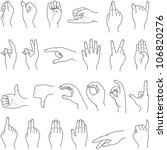 hand collection   vector line... | Shutterstock .eps vector #106820276