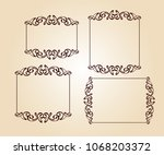 set vector retro frames .vector ... | Shutterstock .eps vector #1068203372