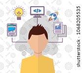 people start up business | Shutterstock .eps vector #1068205535