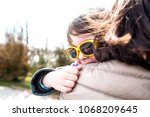 portrait of a boy wearing... | Shutterstock . vector #1068209645