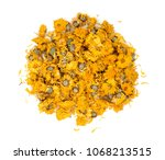 dried chrysanthemum flowers... | Shutterstock . vector #1068213515