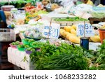 fresh vegetables and lime in...   Shutterstock . vector #1068233282