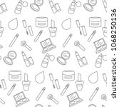 pattern with decorative... | Shutterstock .eps vector #1068250136