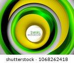 spiral swirl flowing lines 3d... | Shutterstock .eps vector #1068262418